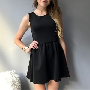 Black Scuba Mini Dress